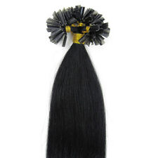 """16"""" 1g/s Double Drawn Pre Bonded 100% Russian Human Hair Extensions Nail Tip UK"""