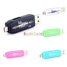Colorful OTG 2in1 Micro USB Adapter TF Reader 2.0 Hub For Samsung S3 S4 Note 2 3