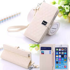 """Genuine Sheep Leather Grid Wallet Card Stand Cover Case For Apple 4.7"""" iPhone 6"""