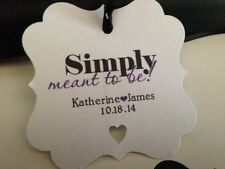 Wedding Favor Tags Square Personalized Simply Meant To Be Buy 2 Get 1 Free