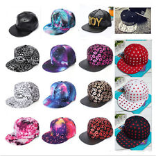 Vintage Baseball Flat Bill Hat Men Women Snapback Hip-Hop Adjustable Cap Unisex