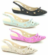SALE - LADIES SLINGBACK SHOES( SPOT ON F8965)