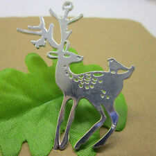 wholesale 3pcs Retro Style ancient silver alloy Sika deer Charm pendant