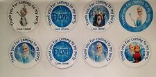 Frozen Elsa Olaf  24 personalised 40mm round stickers sweet cones / boxes / bags