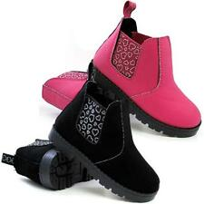 Girls Chelsea Boots  Infants Ankle Biker Desert Fashion Riding School Shoes Size