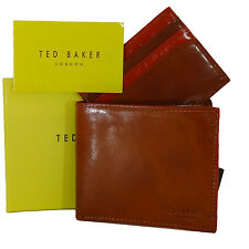 TED BAKER Wallet+card holder Genuine Leather Brand NEW mens in Gift BOX!!!