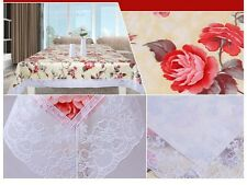 UK Stock Free P&P Wipe Clean Tablecloth Oilcloth Vinyl PVC Lace 140 X 180cm Gold