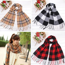 Women Men Plaid Classics Checkered Long Scarf Soft Wrap Shawl Stole Special