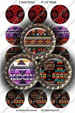 Pre-Cut 1 Inch Circle - NEW Background Designs Bottle Cap Images of Your Choice