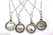 Large Stainless Steel Floating Charm Locket Bridal Collection - Wedding Themed
