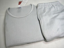 Silk Knit Triple Layers Extra Thick Men Thermal Long Johns TOP and Bottom Set