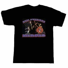 Fire Ems Police T-shirt Firefighter Fireman Firemen Real American Heroes Flag