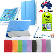Magnetic Smart Leather Cover + Back Case for Apple iPad Air iPad 5/6 + Stylus