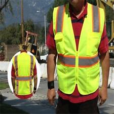 NEW HI VIS ANSI/ISEA Class 2 Safety Reflective Unisex Contrast Vest ALL SIZES