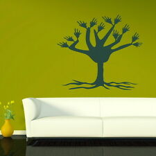 TREE WITH WAVING HANDS WALL ART DECAL STICKER NEW TR18