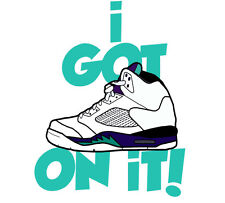 "Higher Knowledge ""5onIt"" Jordan Retro Grape 5s Tee Nike HK Diamond Ice Cream"