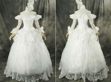 H-331 weiß white Gothic Victorian Cosplay Kleid dress Kostüm costume n. Maß