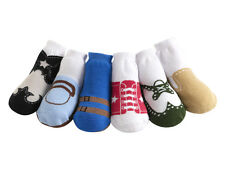 JazzyToes Jazzy Toes Baby Boys Socks 6 Pairs Variety Gift Box Set Non-skid soles