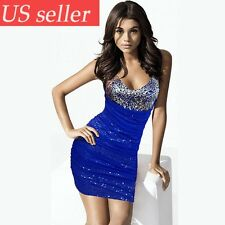New Sexy Wrap Tight Low-cut Dress Homecoming Cocktail Party Nightclub Dresses US