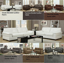 2 Pieces Modern Sofa Set Couch Sofa & Loveseat Living Room Bobkona Furniture New