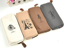 New Paris Fashion Style Pencil Case Cosmetic Bag Coin Purse Pouch with Zipper