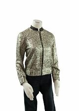 Petticoat Alley NEW Womens Black and Gold Bombers Fashion Jacket Size XS & S