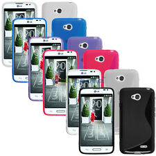 S-line Slim Flexible Rubber GEL TPU Case Cover Skin For LG Realm LS620 +Film