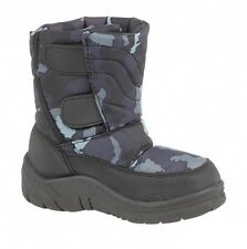 Toddler Boys Black Wildcat Snow Rain Mud Boots Velcro Fastening Sizes UK 8 - 12