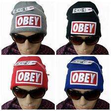 Men OBEY Outdoor Cotton Hip Hop Caps Winter Warm Hats Boy Knitted Casual Beanies
