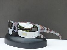 Mens Sport Wrap Camouflage Designer Sunglasses Revo Mirrored Shades + Soft Bag