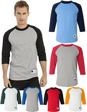 New CHAMPION Men's BASEBALL 3/4 RAGLAN Sleeve T-SHIRT TAGLESS Jersey B-T1397
