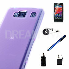 Soft Case Cover For Motorola Droid Razr Maxx HD XT926 +Free Charger+Cable+SP