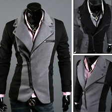 Charm 2014 Stylish Men's Blazer Slim Jacket Trench Jackets Overcoat Coats 4 Size