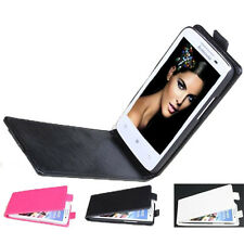 """Durable Brand New Leather Flip Cover Case For 4.7"""" Lenovo S820 Smartphone UD"""