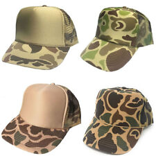 1 DOZEN Camouflage Camo Baseball Trucker Foam Mesh Hats Hat Caps Wholesale Lot