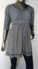PER UNA M&S NEW WOMENS NAVY WHITE STRIPED COTTON JERSEY TUNIC TOP SIZES 8-22