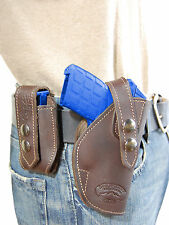 NEW Barsony OWB Brown Leather Holster + Mag Pouch Colt Small 380 Ultra-Compact