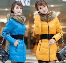 Winter new Korean Women XL padded hooded coat collar Nagymaros