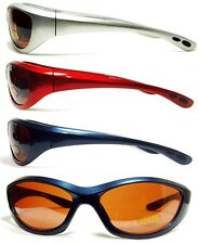 NEW HD Vision Driving Sunglasses Red Blue Silver WrapAround Golf Driving Glasses
