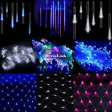 Meteor Shower Tube LED Fairy String Light Lamp Outdoor Christmas Xmas Party DL0