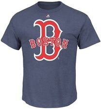 Boston Red Sox SRN Run Producer Majestic Men's T Shirt Navy Big And Tall Sizes
