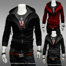 Fashion Men's Assassins Creed Cosplay Long Sleeve Sweater Hoodie Jacket Coat FW