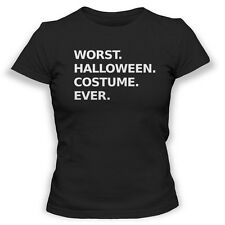 Worst Halloween Costume Ever Womens Tshirt Funny Scary Blood Ghost T Shirt