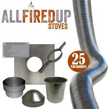 "Flexible Flue Liner Installation Kit 1 For Multifuel Wood Burning Stove 5"" to 5"""