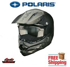 POLARIS FLY F2 CARBON SNOWMOBILE HELMET ECE SLY BLACK SNELL DOT APPROVED NEW