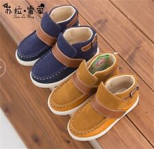New Kids Boys Shoes Ankle Boots Brown Blue Breathable Velcro