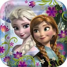 """Frozen """"Elsa&Anna  Images 4 Edible Cake Toppers 1/4 Sheet, 7.5"""" Round or Cupcake"""