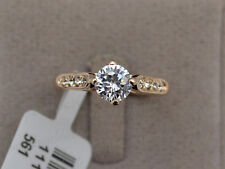 SALE : 18k (rose/white) gold plated Sparking 1 ct Round cut Lab created Ring