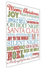 MERRY CHRISTMAS QUOTES CANVAS WALL ART PRINTS HOME DECORATION PICTURES PHOTOS