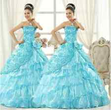 Elegent Long Evening Formal Gowns Bridal Wedding Strapless Dresses In 5 colors
